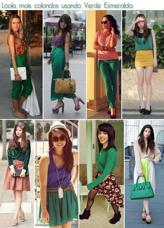 looks mais coloridos usando verde esmeralda copy