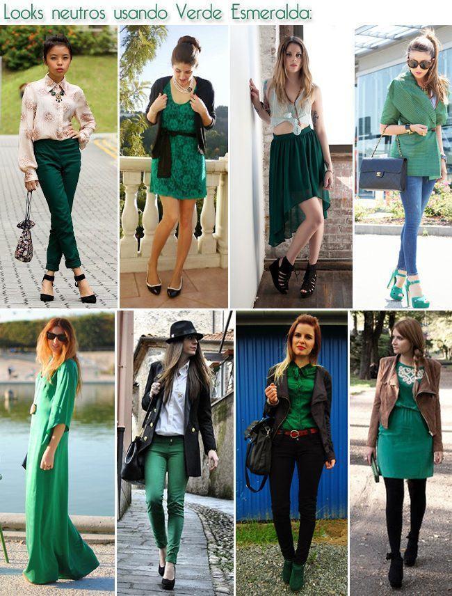 looks neutros usando verde esmeralda copy