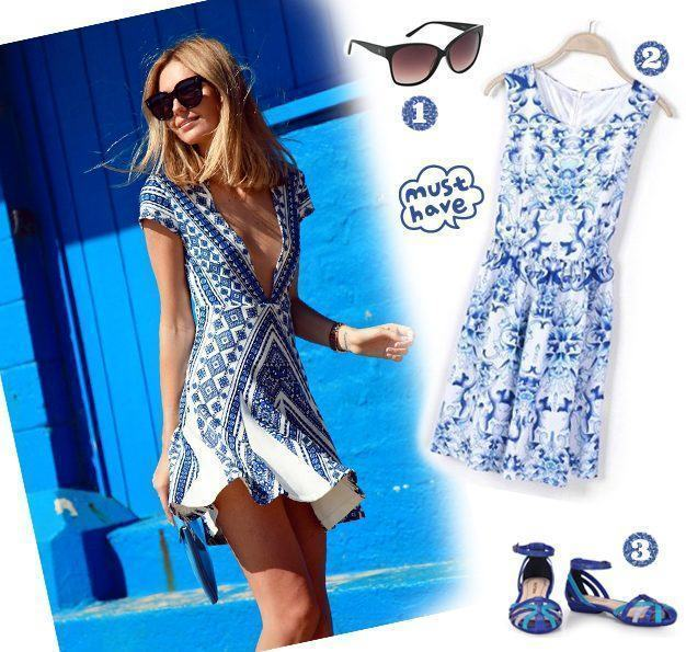 look vestido porcelain print copy
